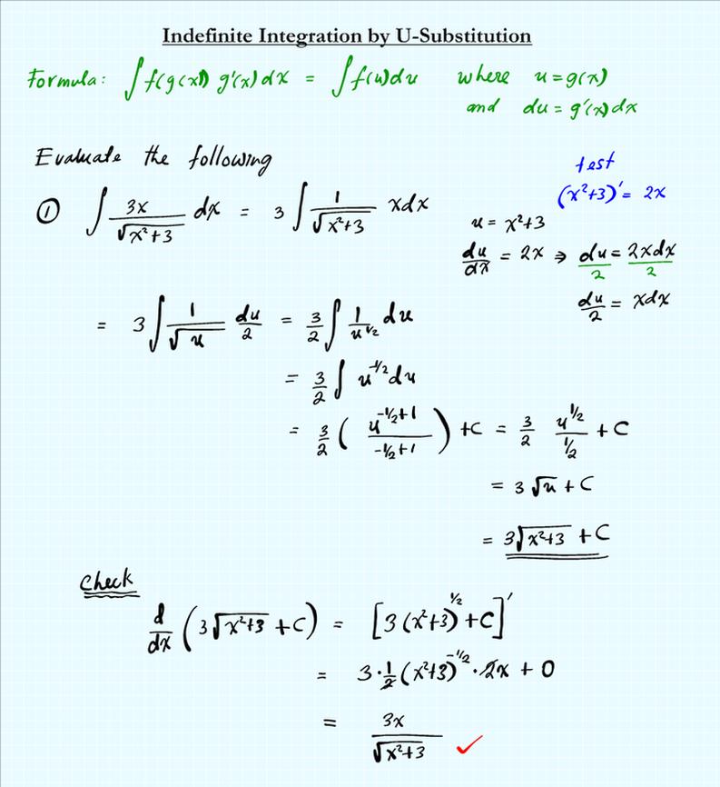 Integration by U substitution MATHGOTSERVED – U Substitution Worksheet